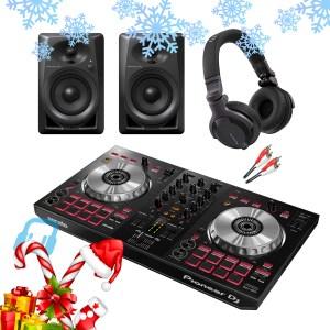 Pioneer DDJ-SB3 DJ Controller with DM-40 Monitors and HDJ-CUE1 Headphones