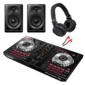 Pioneer DDJ-SB3 DJ Controller with DM-40 Monitors and HDJ-CUE1 Headphones