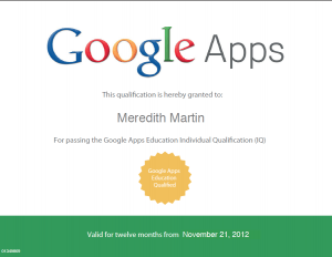 Google Apps Qualified Individual Certificate