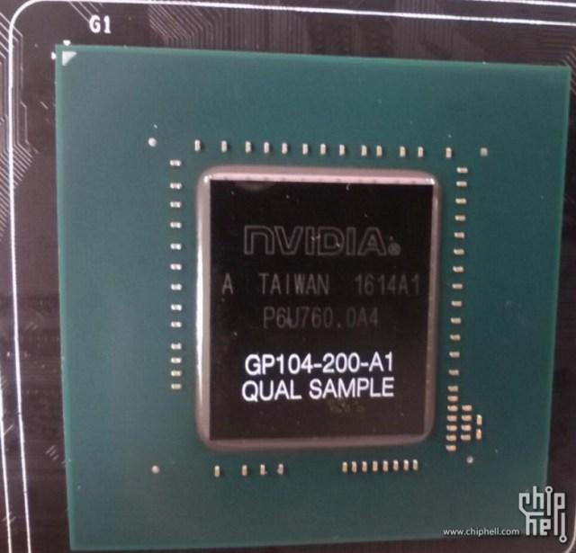 GPU GP104 boczna perspektywa