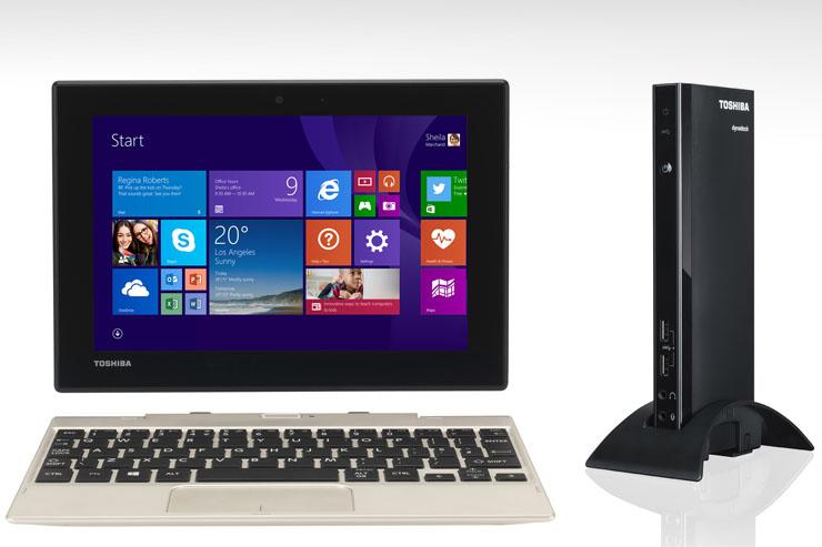CS 2015, Toshiba Satellite Click Mini e Dynadock 4K