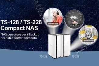 QNAP TS-128 e TS-228, personal storage economico e compatto