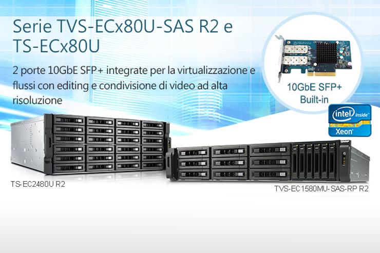 QNAP serie TVS-ECx80U, NAS enterprise con architettura Xeon