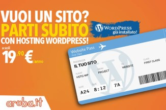 Aruba, nuovi pacchetti web hosting con Wordpress preinstallato