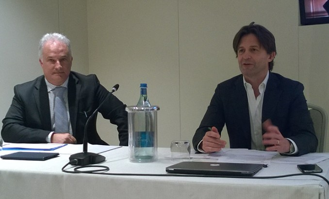 Giordano Albertazzi, Presidente di Vertiv in Europa, Medio Oriente e Africa e Antonio Carnassale, Country Manager di Vertiv in Italia.