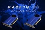 AMD Radeon Pro WX 2100 e 3100, per workstation entry-level