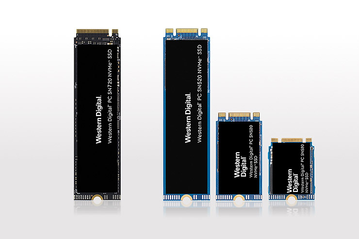 Western Digital SN720 e SN520, evoluto storage NVMe