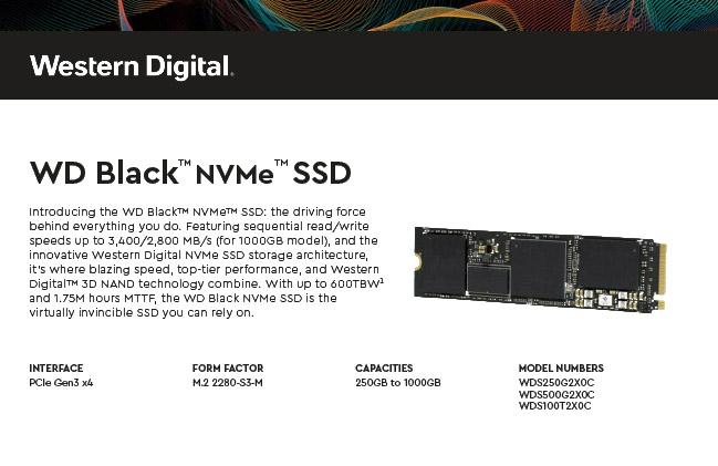 WD Black 3D NVMe, veloce storage M.2 per enthusiast