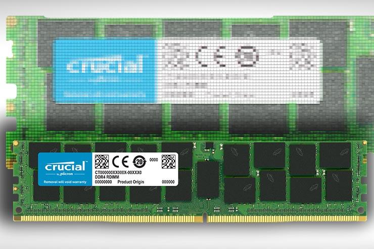 Crucial, arrivano i nuovi moduli RDIMM DDR4 per server
