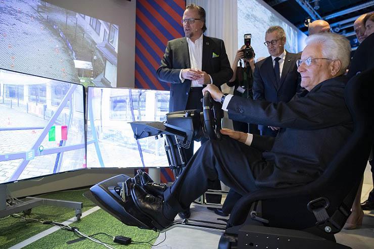 Cent'anni di Ericsson in Italia, Sergio Mattarella in visita