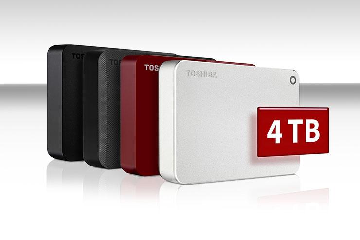 Toshiba Canvio, ora disponibili con capacità sino a 4 TByte