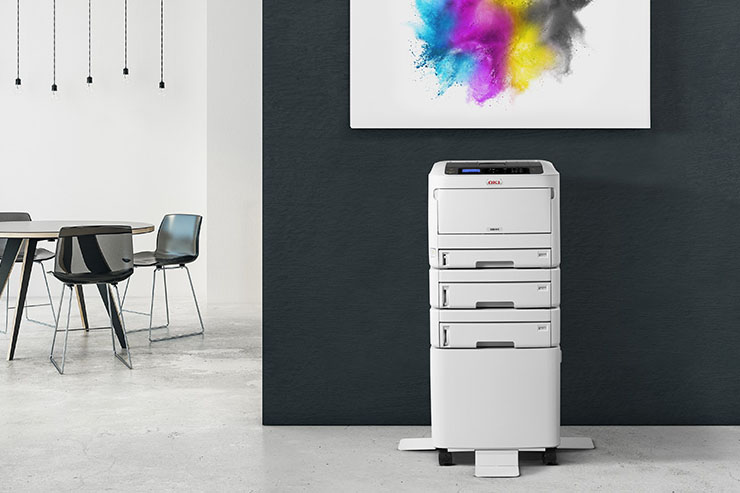 OKI Europe lancia le stampanti A3 a colori Serie C800
