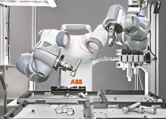 ABB, il robot YuMi per collaudare gli sportelli Bancomat