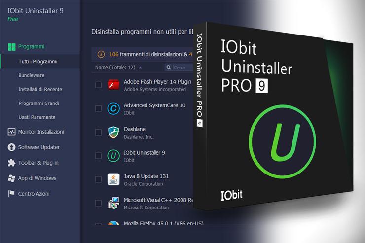 IObit Uninstaller, arriva la release 9 per rimuovere i software