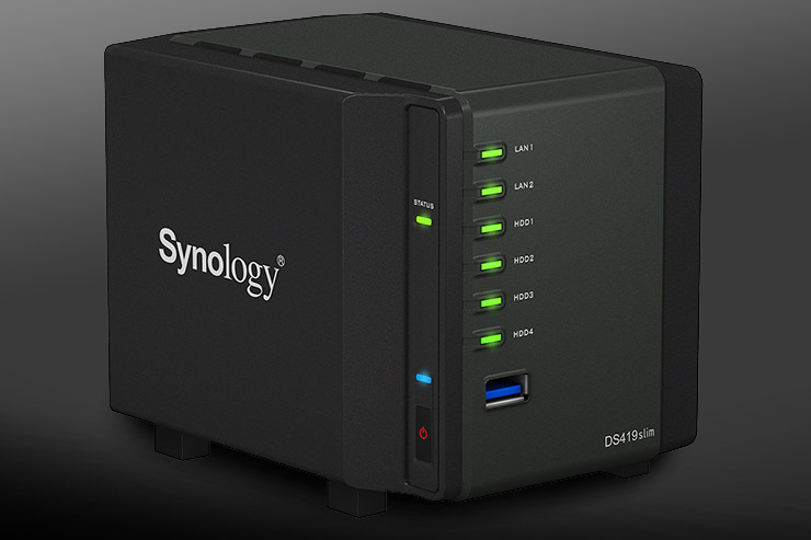 Synology DS419slim, storage compatto e cloud personale