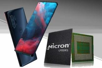 Micron, LPDDR5 a basso consumo per Motorola Edge+