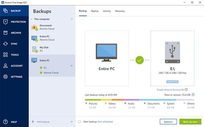 Acronis True Image 2021: backup, cloud e anti-malware