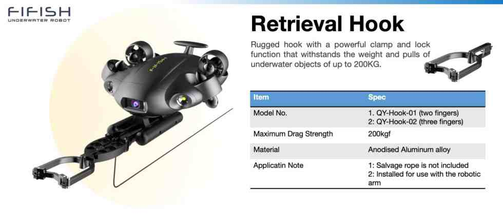 Retrieval Hook for FIFISH V6