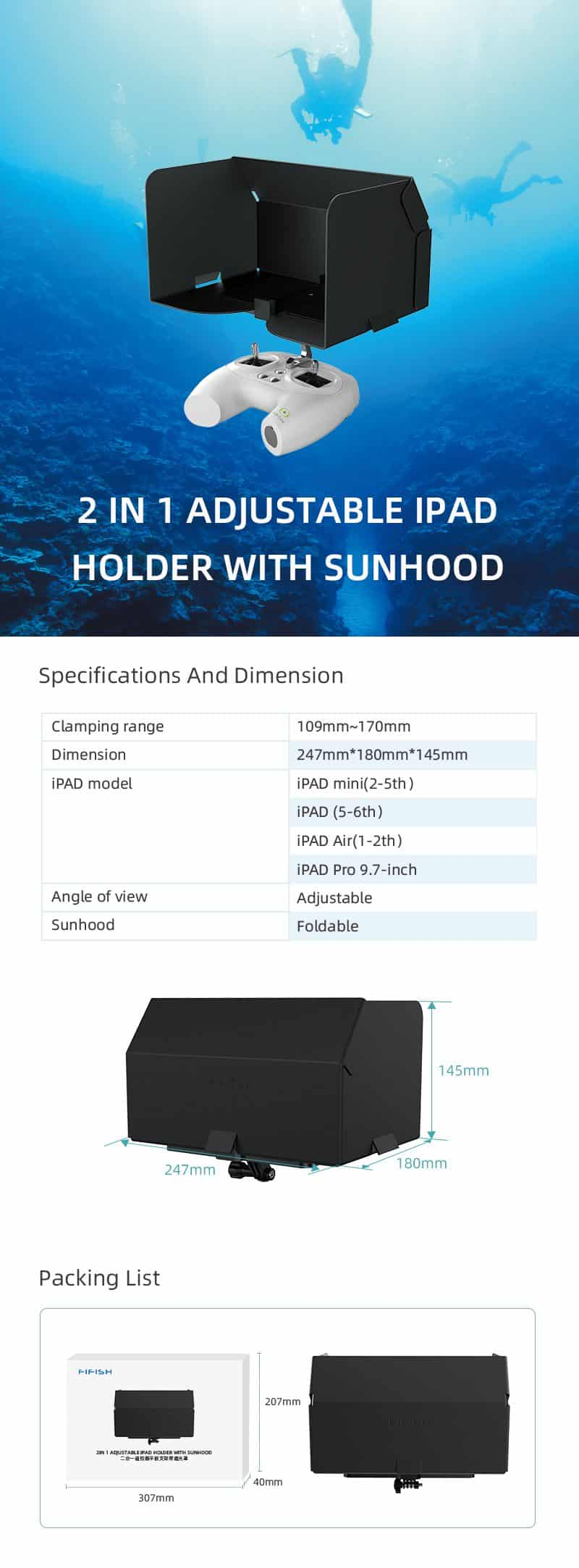 Holder with Sunhood for FIFISH