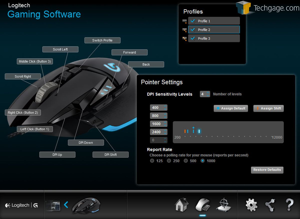 Logitech G502 Proteus Core Gaming Mouse Review A Serious