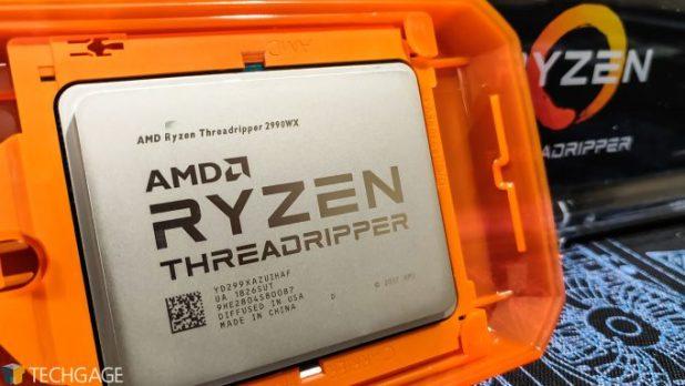 AMD Ryzen Threadripper 2990WX In Its Protective Case