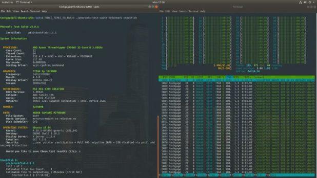 Stockfish Chess Engine Using 64 Threads