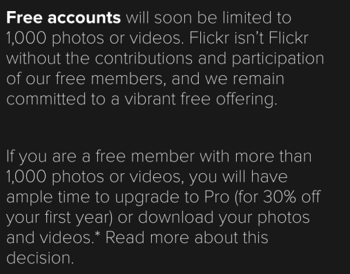 Free Flickr Announcement