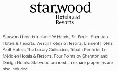 Starwood brands