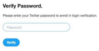 Twitter verify password