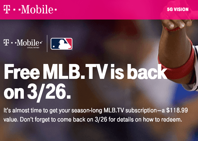 Tmobile MLB TV