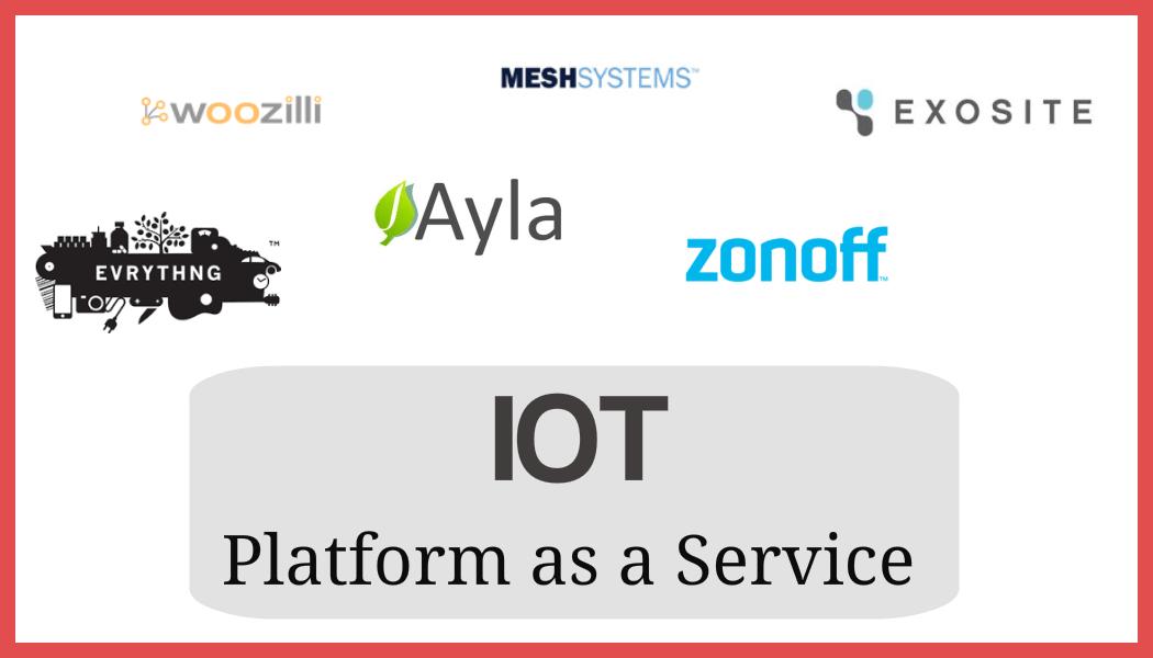 IoT startups platform as a service