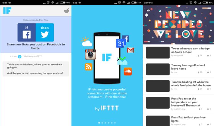 IFTTT app manager