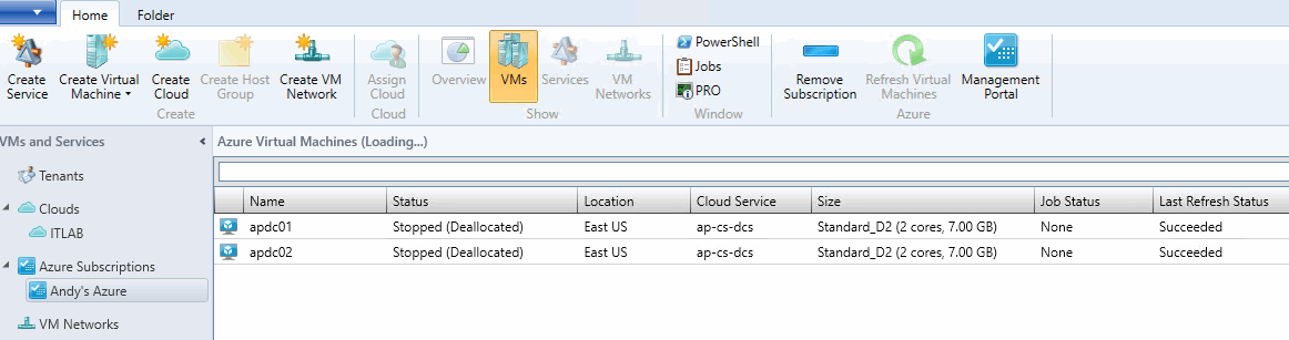 Check virtual machines in VMM