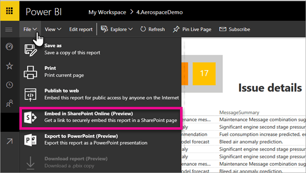 New Pwer BI option: Embed in SharePoint Online