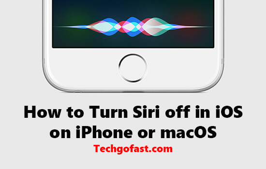 turn siri off