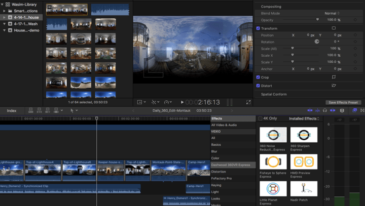 The interface of Final Cut Pro X video editor