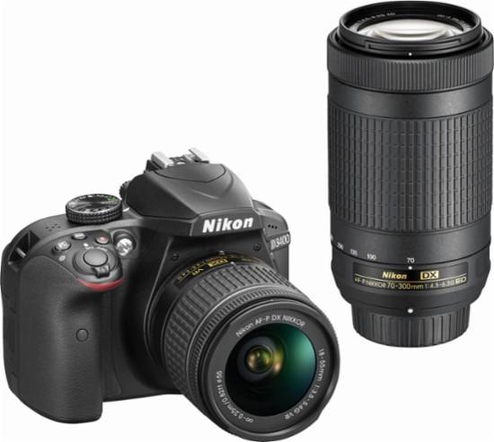 Nikon D3400 with NIKKOR 70-300mm agist the white backgorund