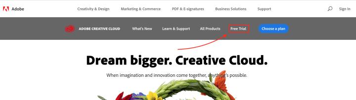 Adobe Creative Cloud CC trial version