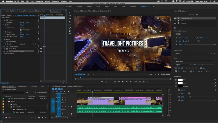 adobe premiere pro titiles animation