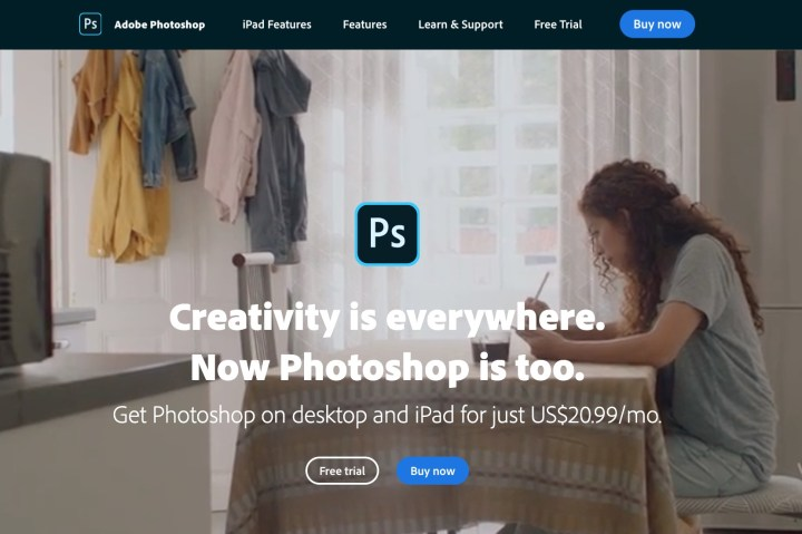 buy photoshop product page