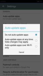 auto update option in playstore