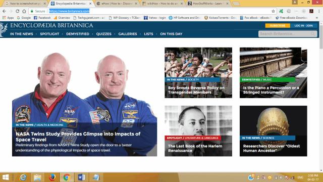 britanica home page