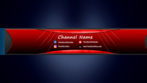 Red Background YouTube Channel Art Download PSD file for Photoshop