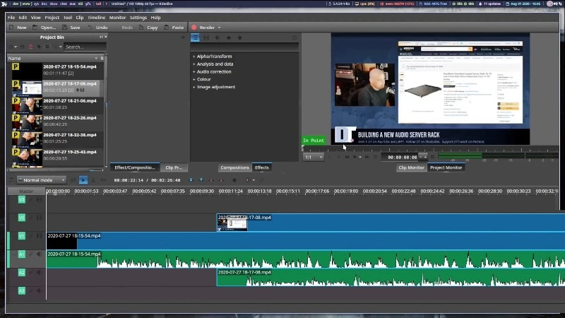 Kdenlive Video Editing