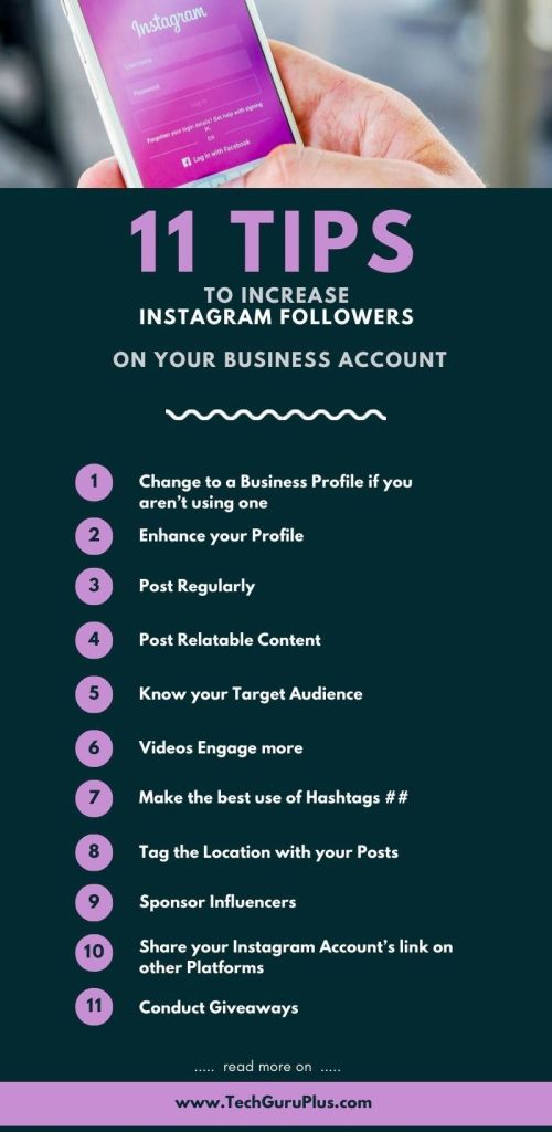 11 Tips to Increase Instagram Followers on your Business Account