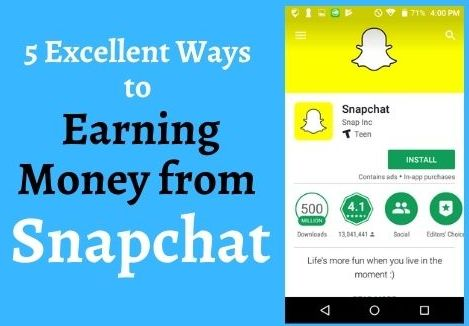 5 Excellent Ways to Earning Money from Snapchat