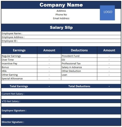 Salary Slip Format In Excel With Formula In India 2017 , Pay Slip Format Excel