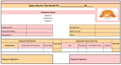Salary Slip Template In Excel Free Download, Pay Slip Format Excel