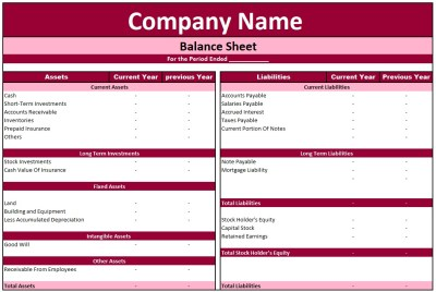 Download Balance Sheet In Excel File In Xls Format