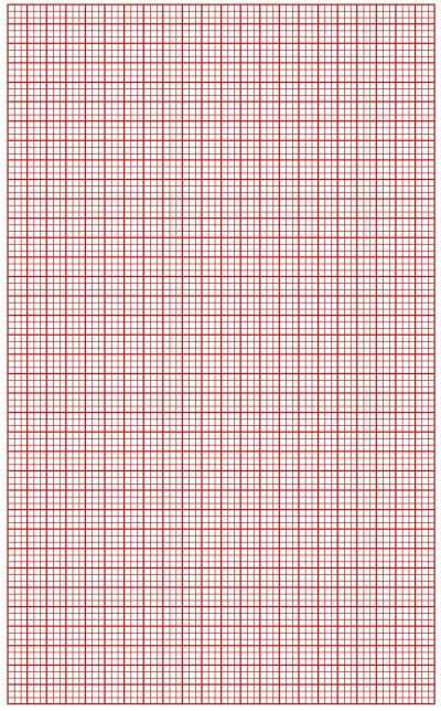 Graph Paper Red Lines with Bold Line Small Blocks